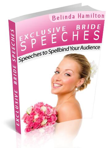 bride speech book