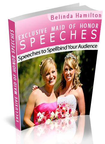 Maid of Honor Speech book